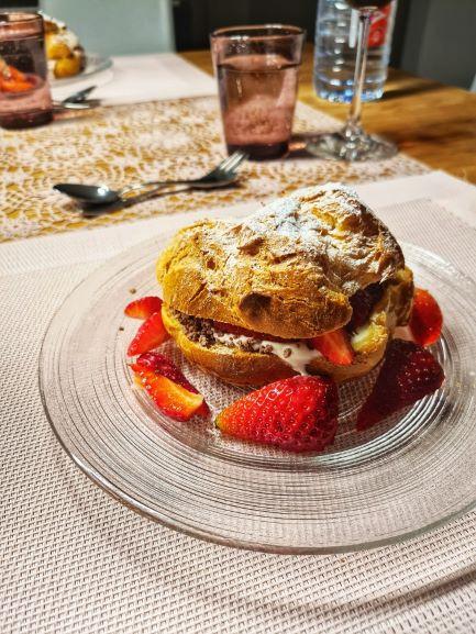 Ofenküchlein mit Vanille und Erdbeeren